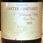 2006 Carter Vineyard Hillblock Pinot Noir